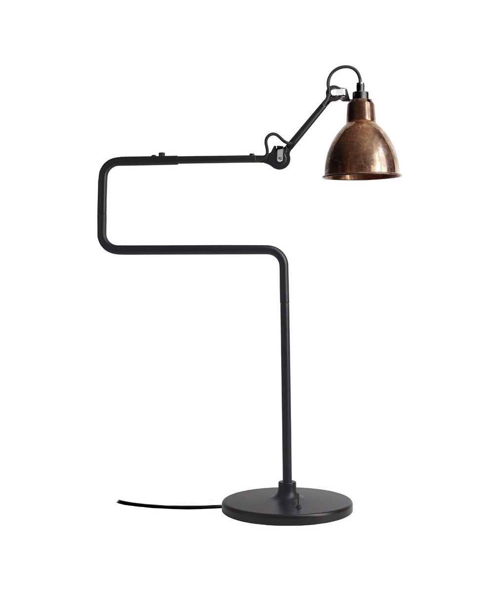 317 Bordlampe Sort Raw Kobber Lampe Gras