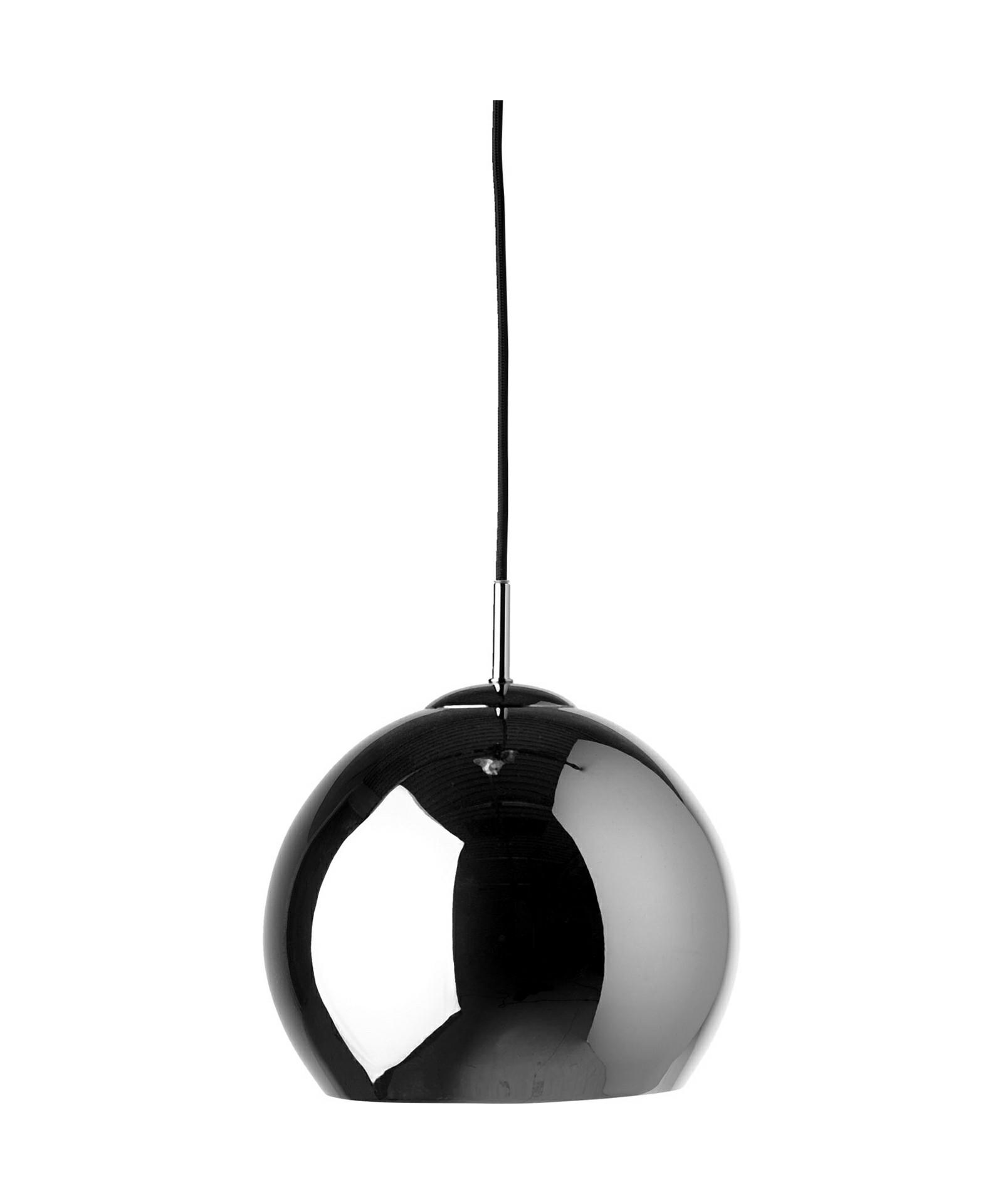 Image of   Ball Pendel Blank Sort Krom - Frandsen