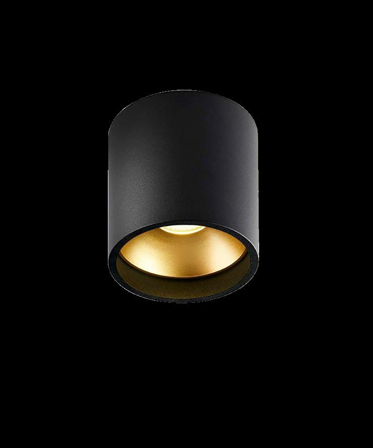 solo rund deckenleuchte schwarz gold light point. Black Bedroom Furniture Sets. Home Design Ideas