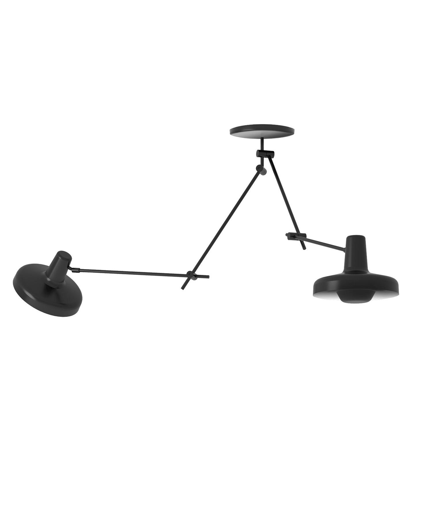Arigato Loftlampe Dobbelt Sort - Grupa Products thumbnail