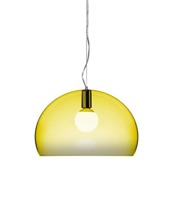 fl y pendelleuchte gelb kartell. Black Bedroom Furniture Sets. Home Design Ideas