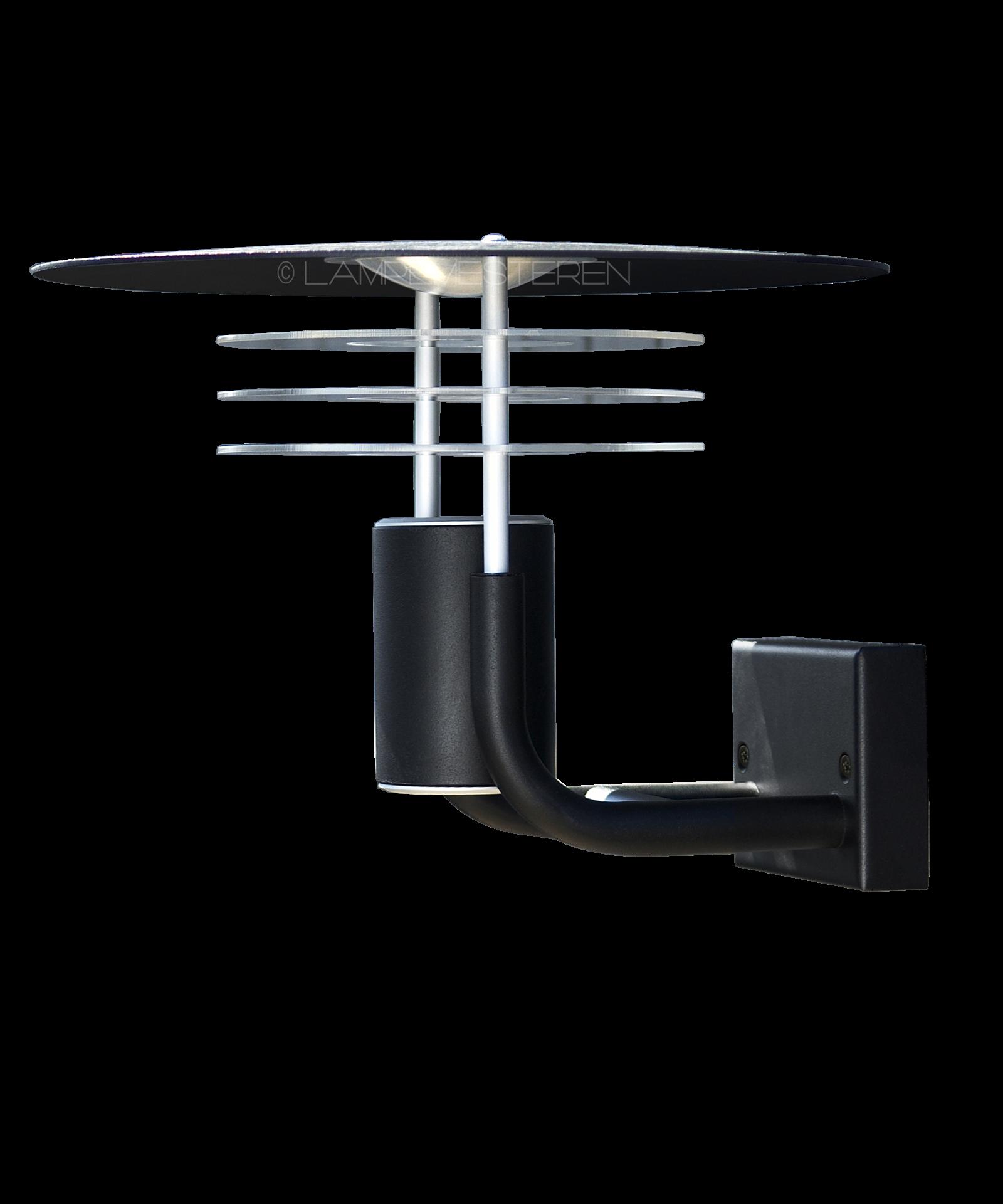 Pagode LED Væglampe Sort - Seslef
