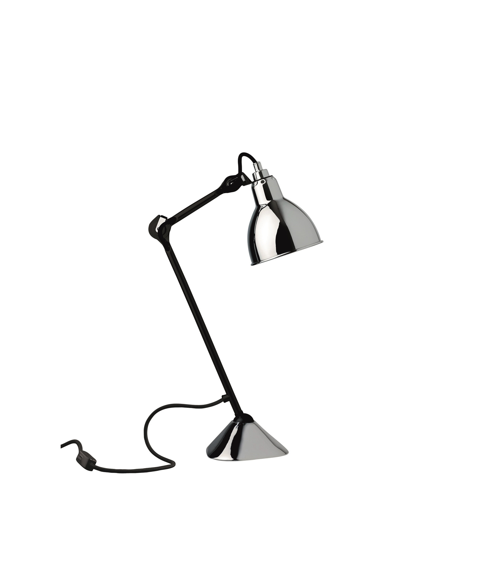 Image of   205 Bordlampe Sort/Krom - Lampe Gras