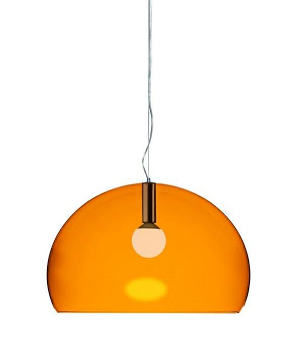 big fl y pendel orange kartell. Black Bedroom Furniture Sets. Home Design Ideas