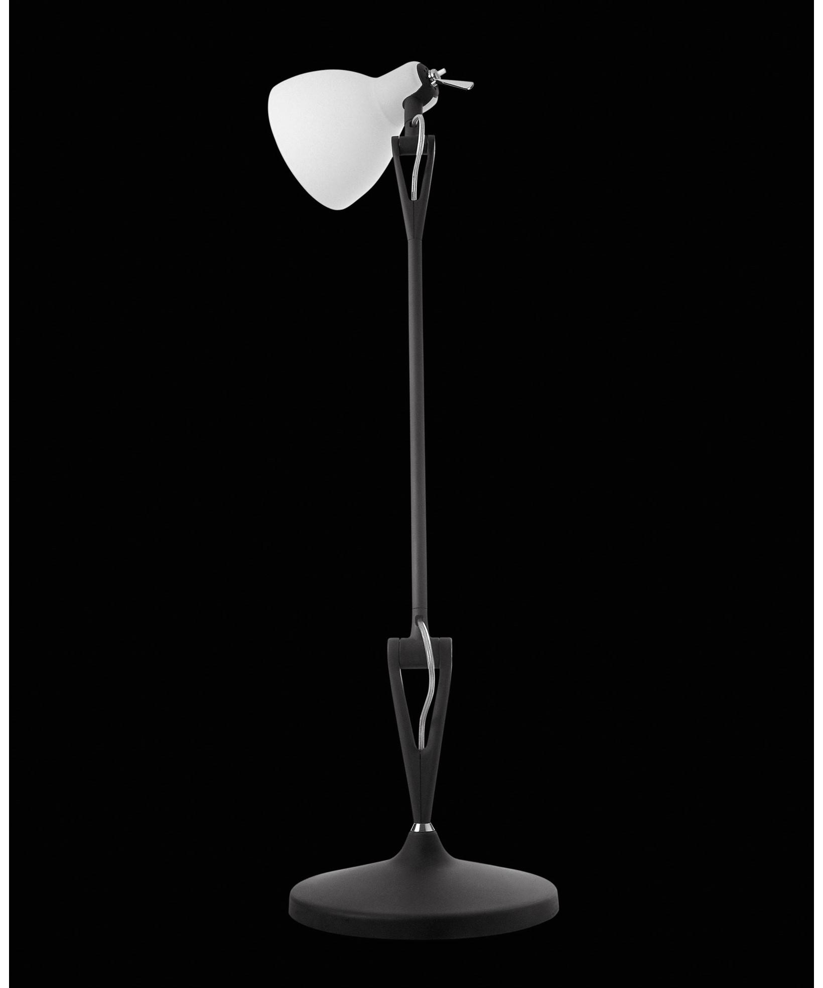 Billede af Luxy T1 Bordlampe Sort/Blank Hvid - Rotaliana