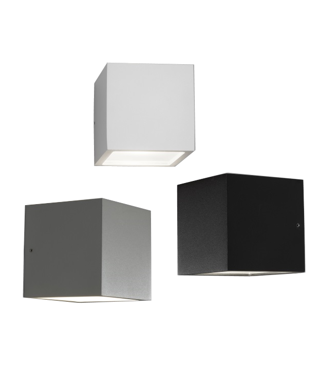 cube xl led au en wandleuchte light point. Black Bedroom Furniture Sets. Home Design Ideas