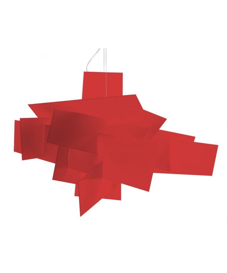 Image of   Big Bang Pendel Rød R7s 3,5m - Foscarini