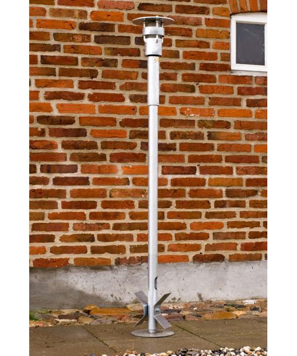 KP-Classica Udendørs Standerlampe 1100+500mm PLC Galvaniseret - KP-lampen