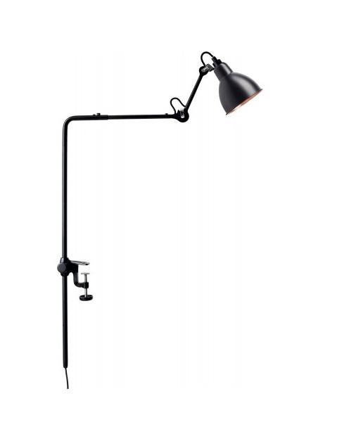 226 Bordlampe/Reol Lampe Sort/Sort/Kobber - Lampe Gras