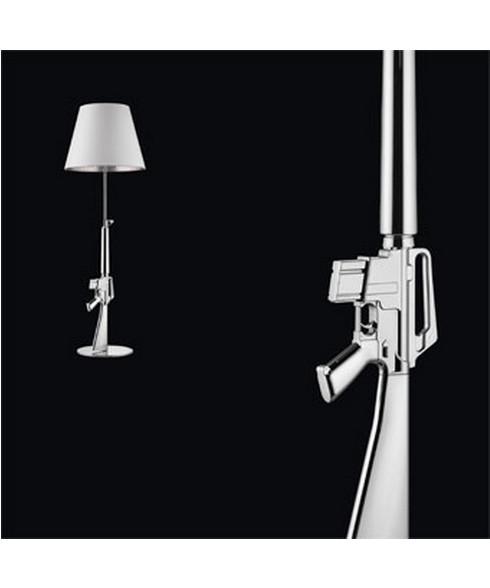 Gun Lounge Gulvlampe Krom - Flos