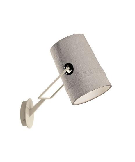 Fork væglampe elfenben/grå