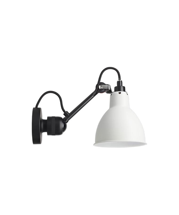 304 Vägglampa Svart/Vit - Lampe Gras
