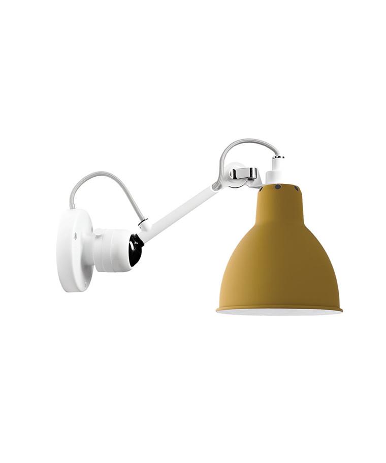 304 Vägglampa Vit/Gul - Lampe Gras