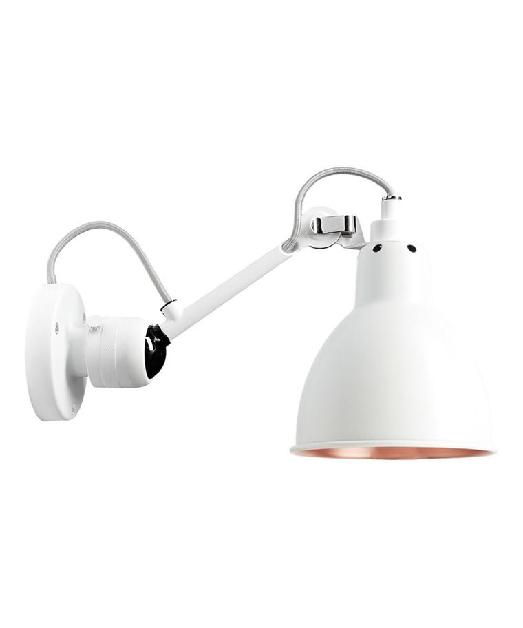 304 Væglampe Hvid/Hvid/Kobber - Lampe Gras