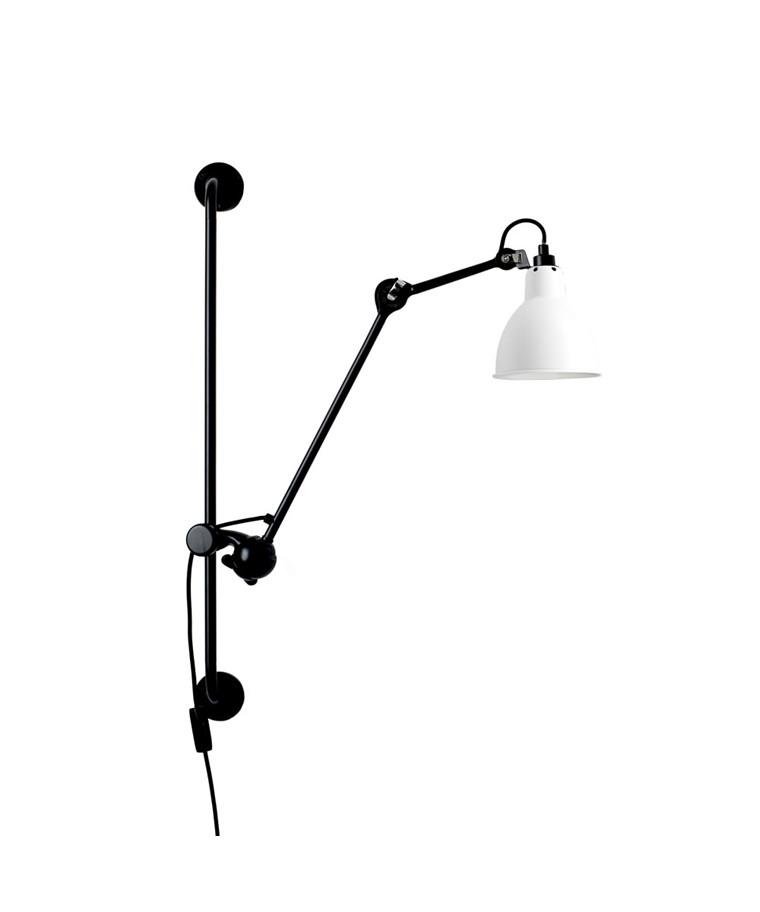 210 Vägglampa Svart/Vit - Lampe Gras