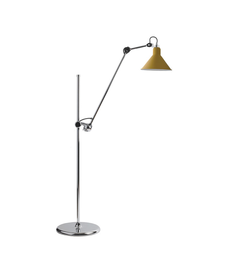 215 Gulvlampa Krom/Gul - Lampe Gras