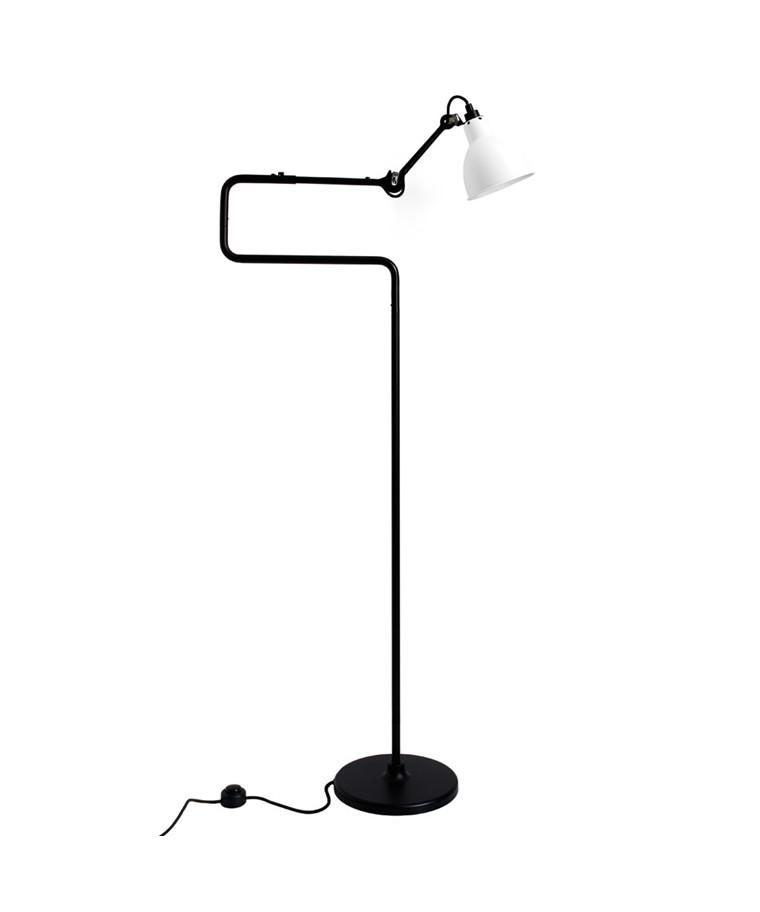 411 Gulvlampa Svart/Vit - Lampe Gras