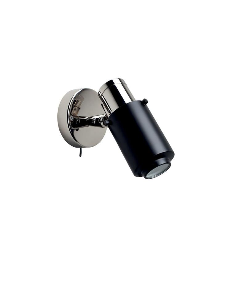 Biny Spot LED m/Bryter Nikkel/Svart - DCW