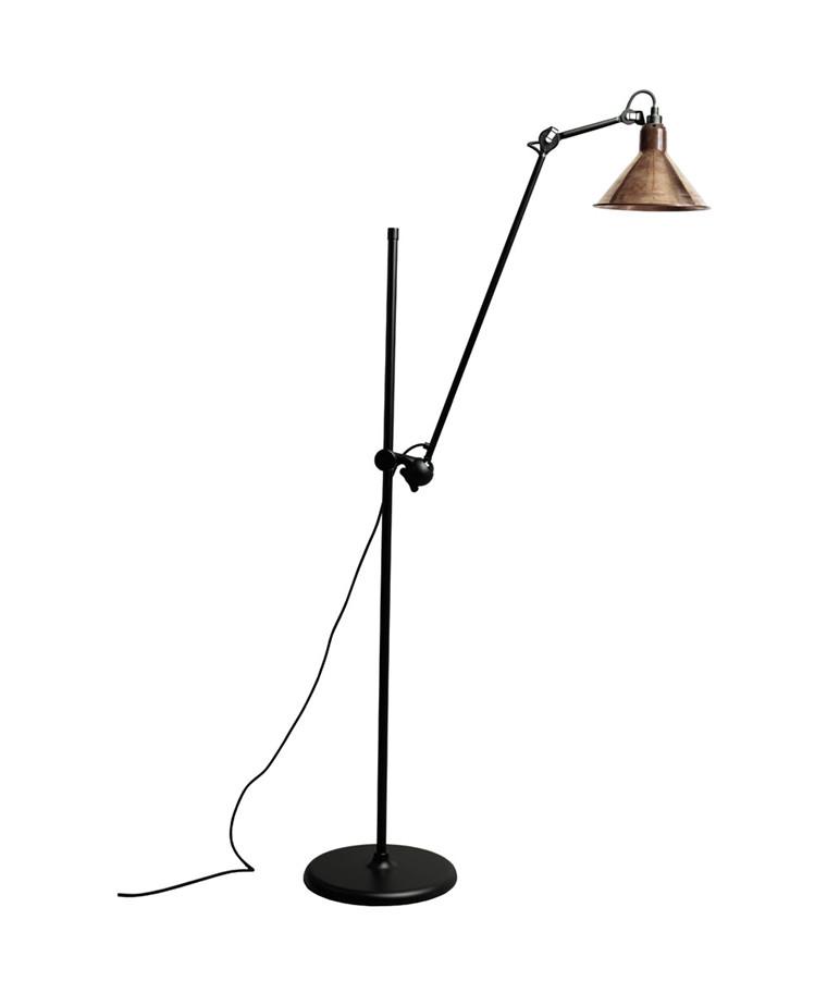215 Gulvlampa Svart/Raw Koppar - Lampe Gras