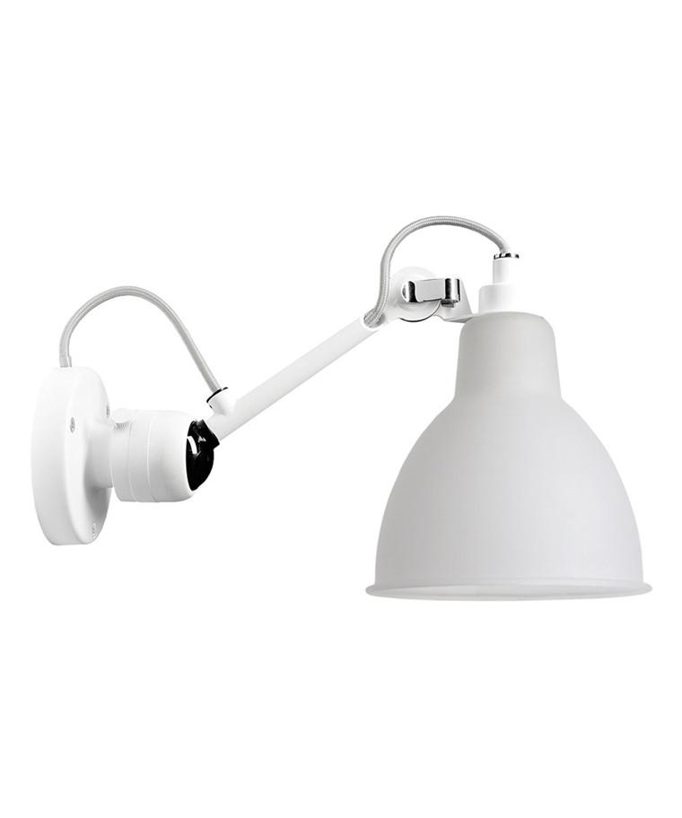 304SW Vägglampa Vit/Glas - Lampe Gras