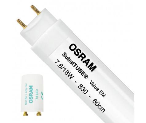 Pære LED Lysstofrør 7,6W 3000K T8 - Osram thumbnail