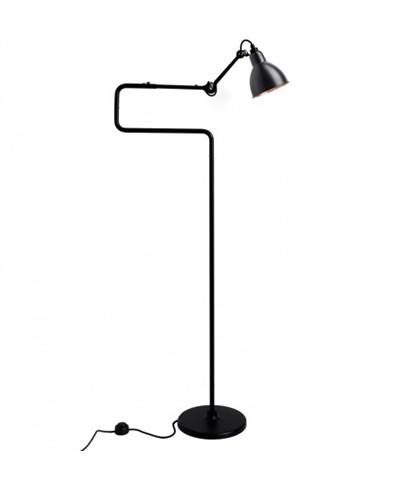 411 Gulvlampe Sort/Sort/Kobber - Lampe Gras