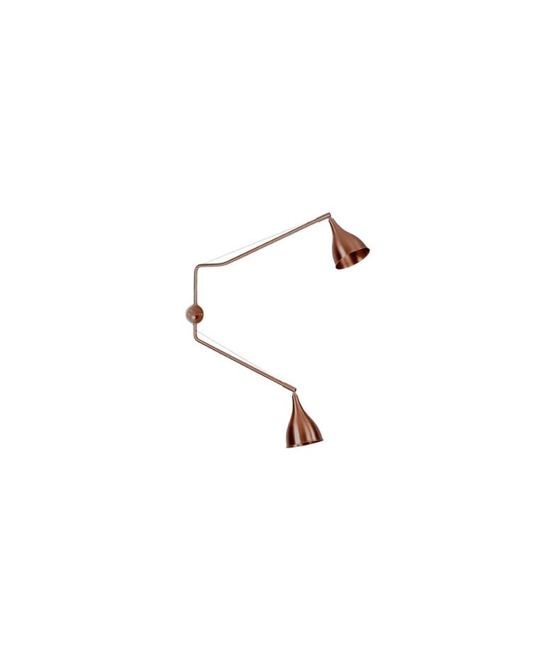 Le Six Vägglampa Dubbel Arm Brons - 101 Copenhagen