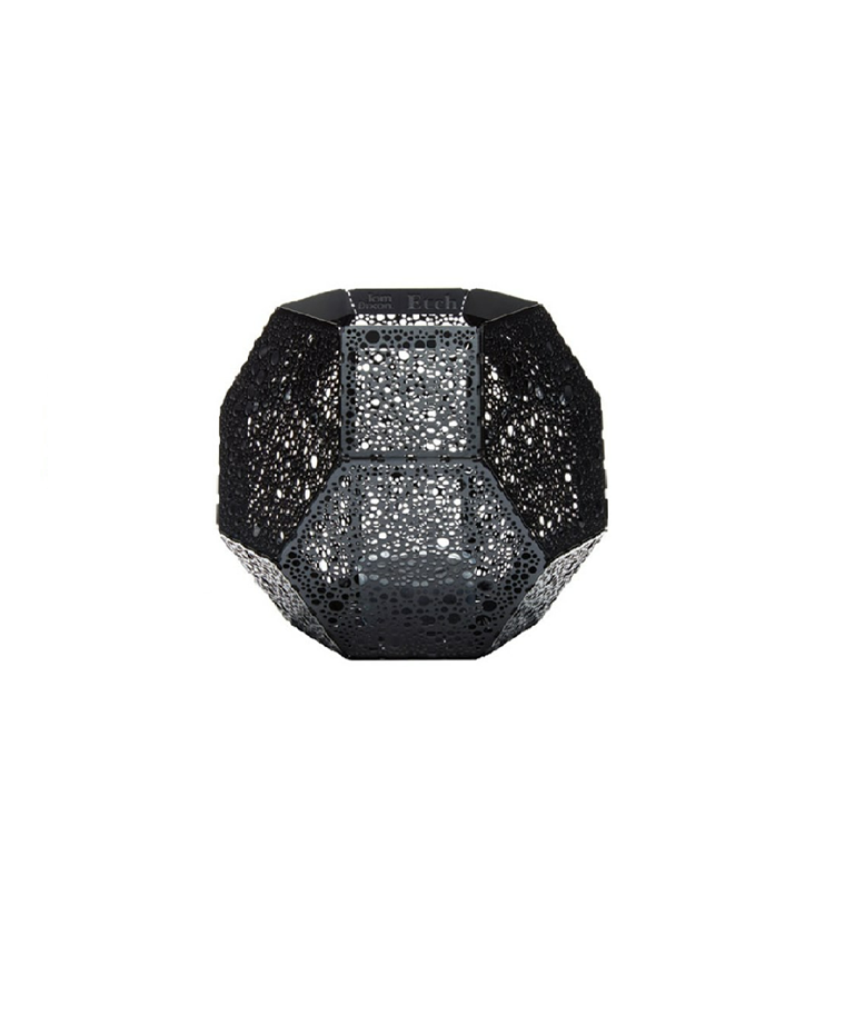 Etch Tea Light Holder Black - Tom Dixon