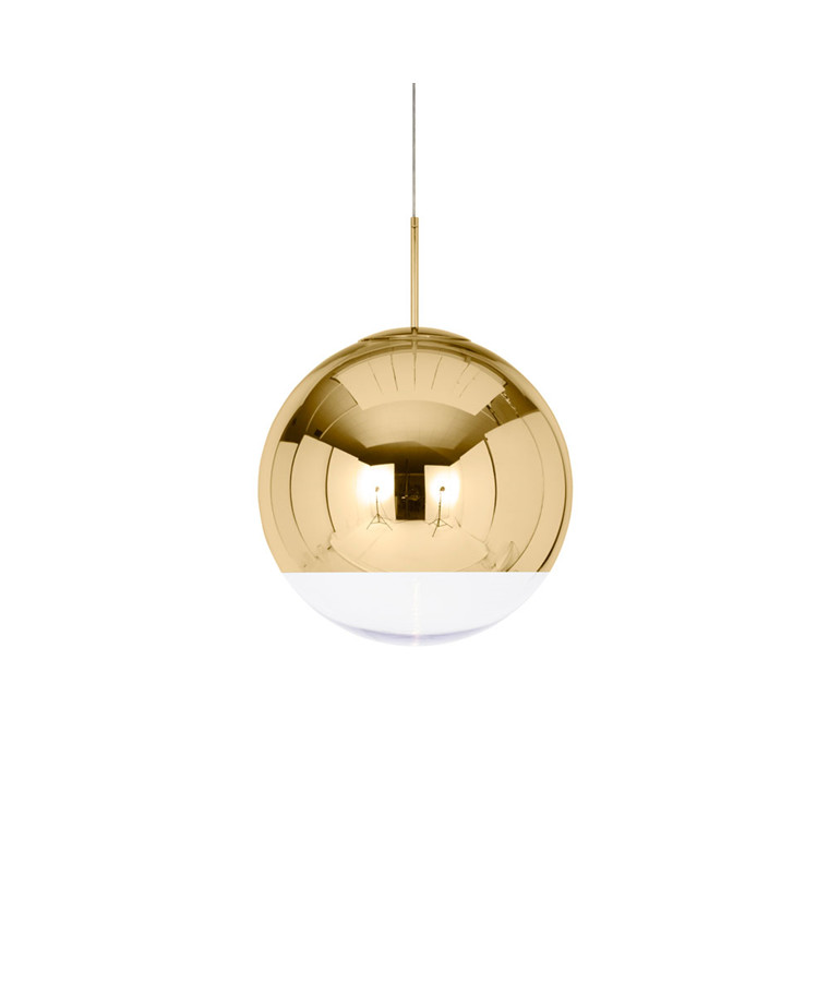 Mirror Ball Globe 50 Pendel Guld - Tom Dixon
