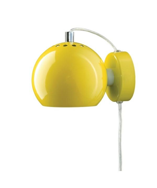 Ball Væglampe Blank Gul - Frandsen