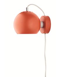 Ball Væglampe Mat Orange - Frandsen