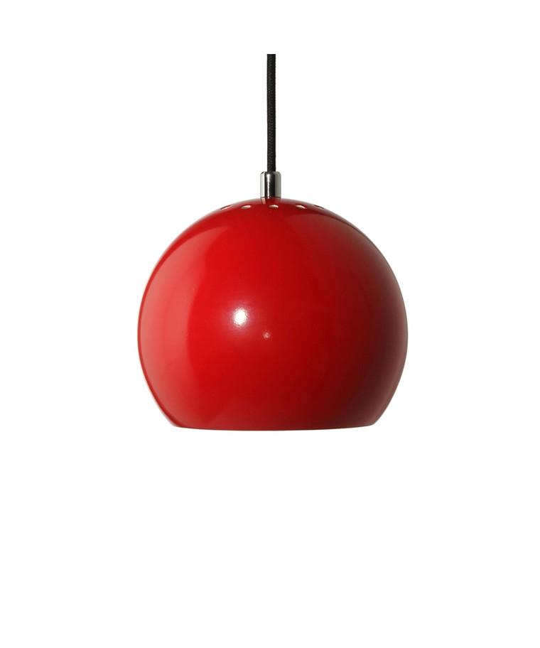 Ball Pendelleuchte Glänzend Rot/Wieß - Frandsen