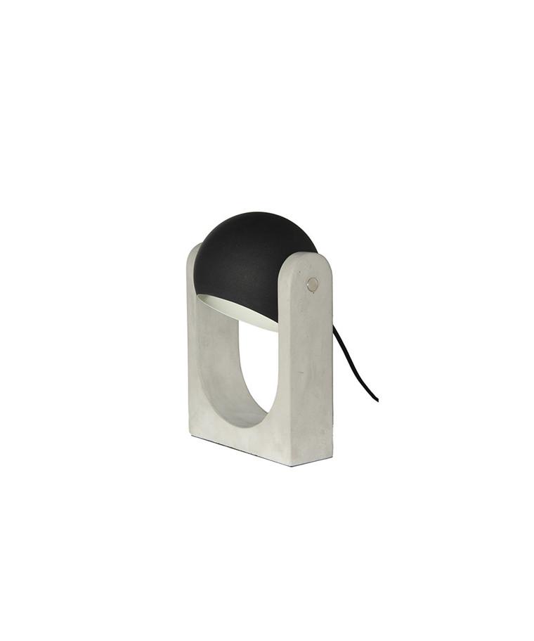 Float Bordlampe Mat Sort/Beton - Frandsen