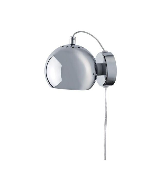 Ball Væglampe Blank Krom - Frandsen