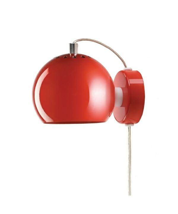 Ball Væglampe Blank Rød - Frandsen