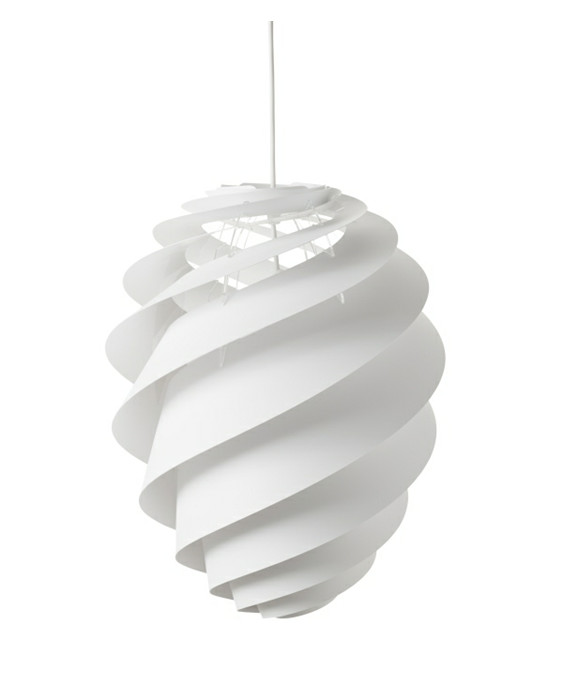 Swirl 2 pendel large hvid