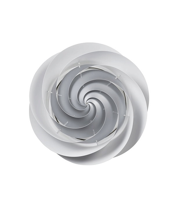 Swirl Væglampe/Loftlampe Large Sølv - Le Klint