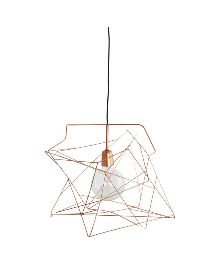 Asymmetric Lampeskjerm Kobber - House Doctor