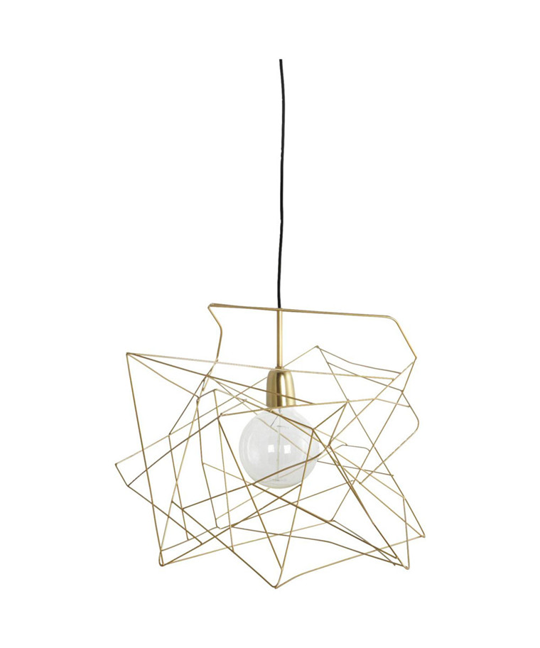 Asymmetric Lampeskjerm Guld - House Doctor