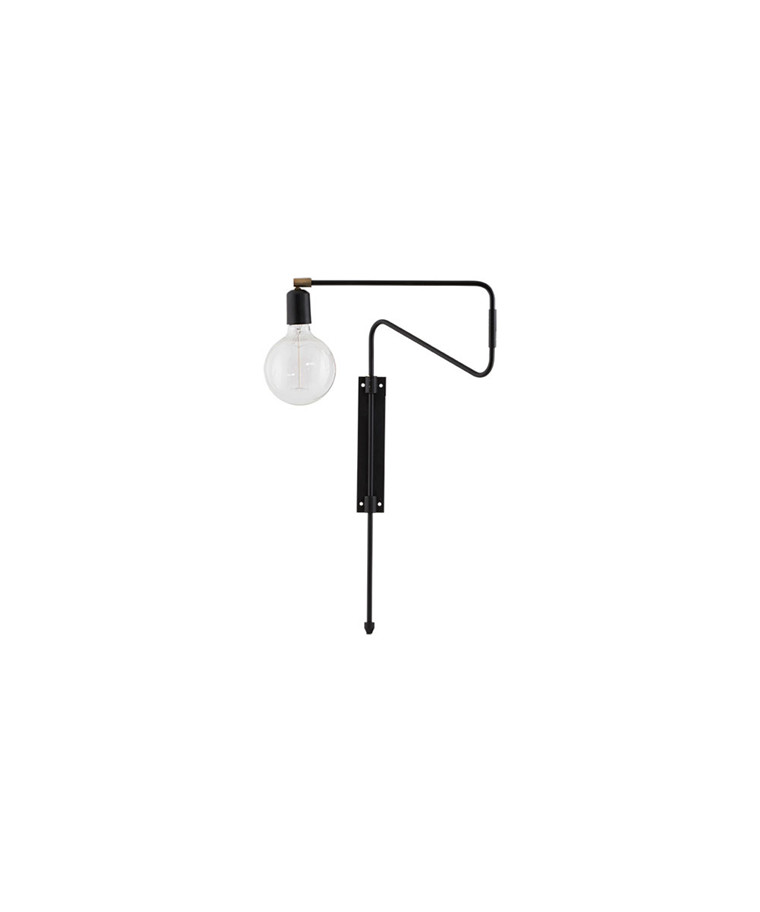 Swing Vegglampe 35cm Sort - House Doctor