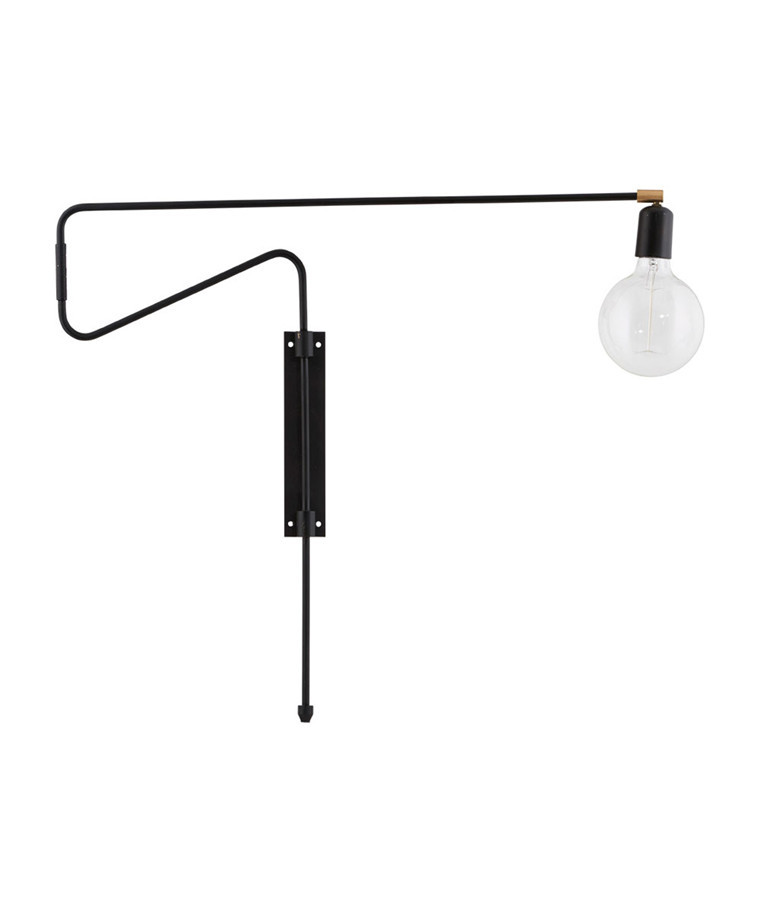 Swing Vegglampe 70cm Sort- House Doctor