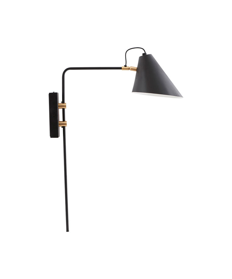 Club Vegglampe 22cm Sort- House Doctor