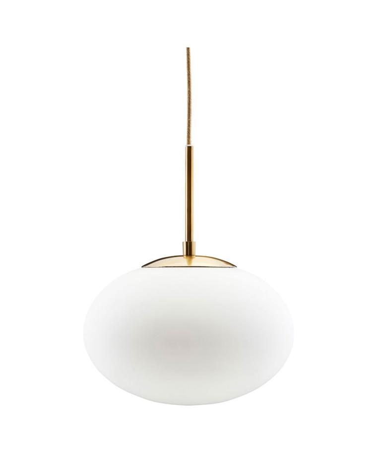 Opal Pendel Lampe Ø30cm Hvit/Messing - House Doctor
