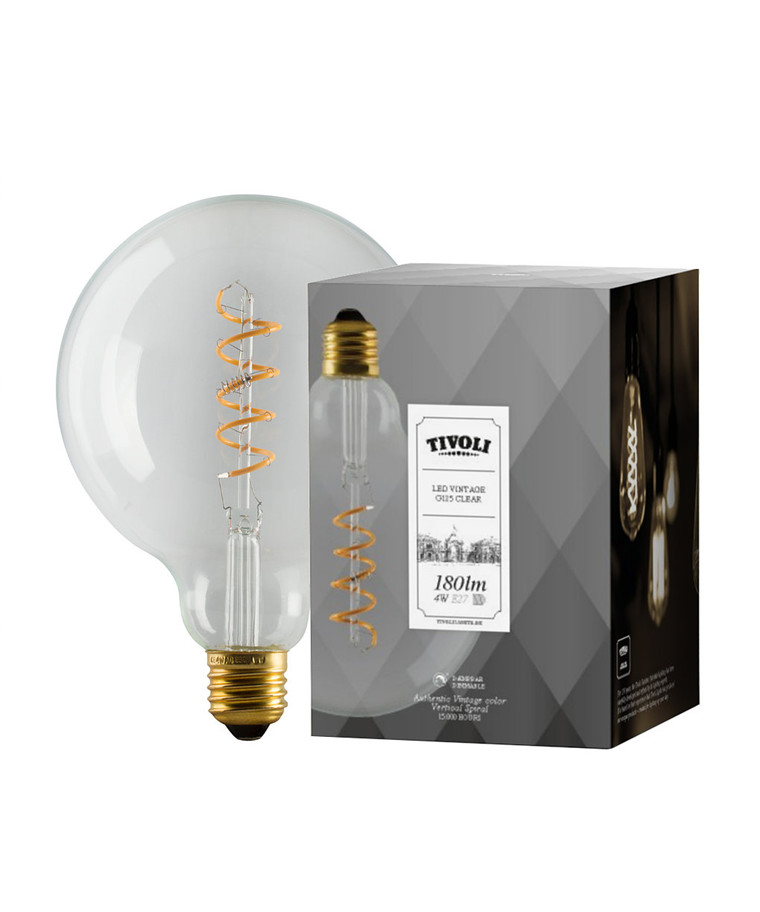 Leuchtmittel 4W (180lm) Vintage Color Dimbar Ø125 E27 - TIVOLI LIGHTS