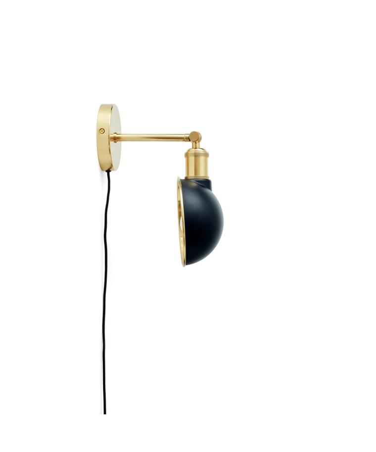 Walker Taklampe/Vegglampe Short Svart - Menu