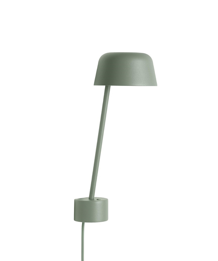 Lean Vägglampe Dusty Green - Muuto