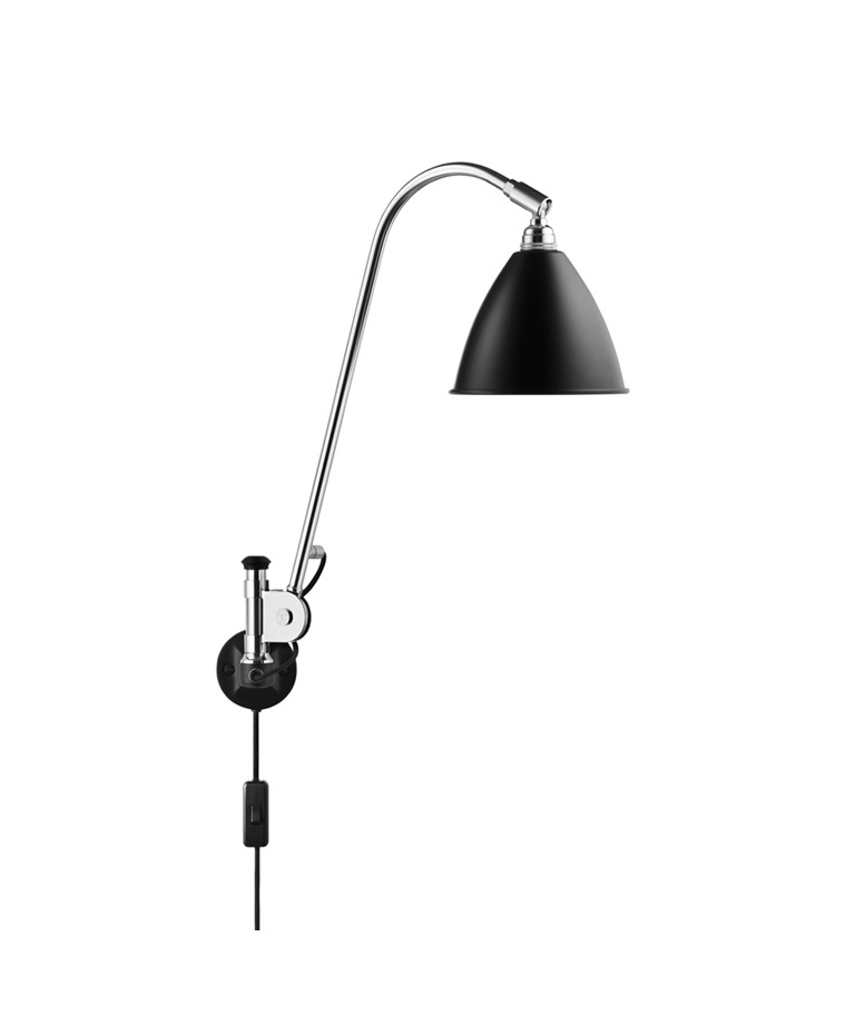 Bestlite BL6 Vegglampe Ø16 Krom/Svart - GUBI