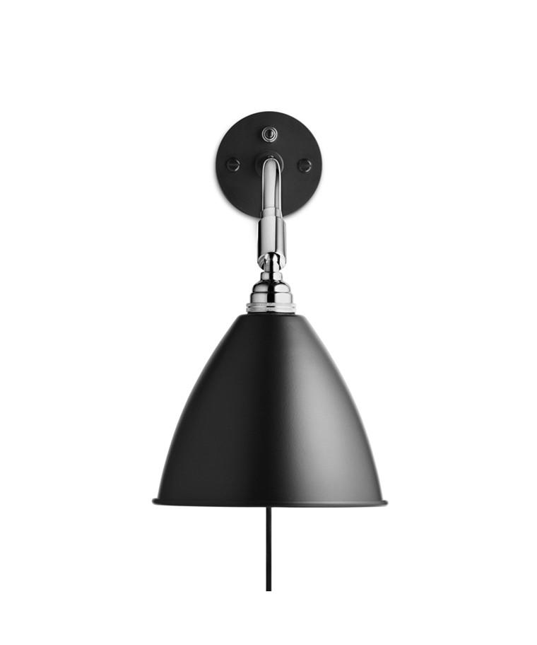 Bestlite BL7 Væglampe Ø16 Krom/Sort - GUBI