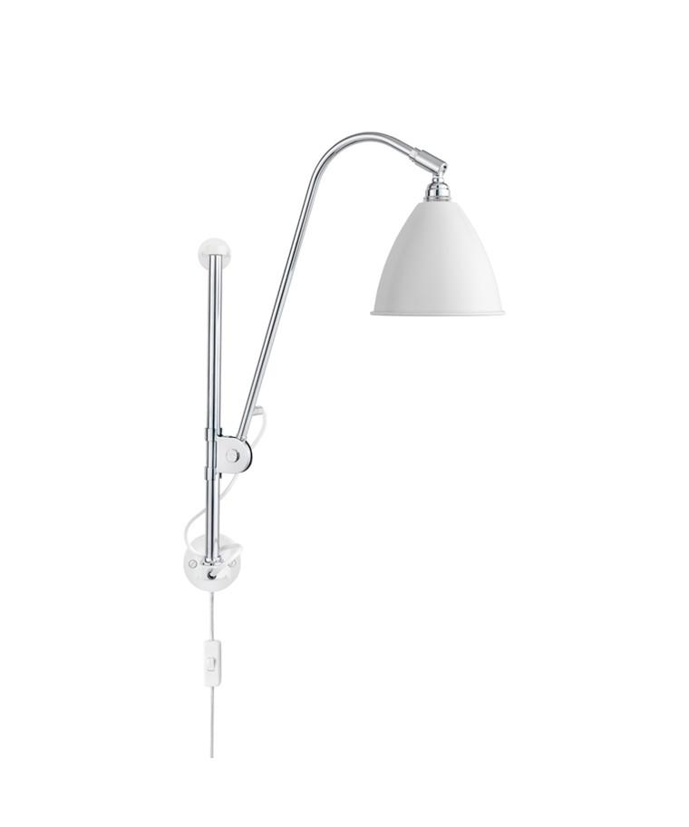 Bestlite BL5 Væglampe Ø16 Krom/Mat Hvid - GUBI