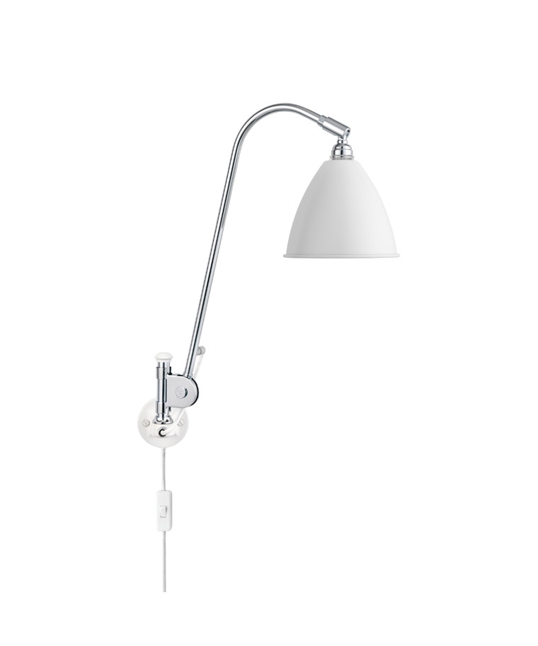 Bestlite BL6 Vegglampe Ø16 Krom/Matt Hvit - GUBI